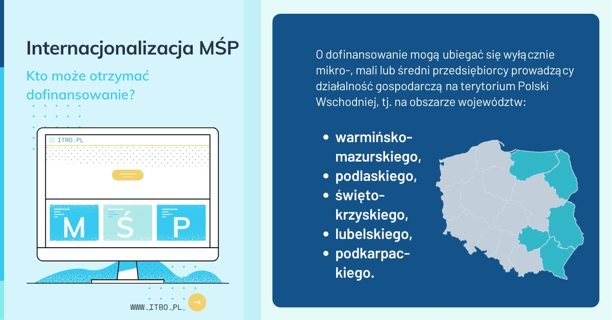 Kto może otrzymać dofinansowanie POPW Internacjonalizacja MŚP 2020