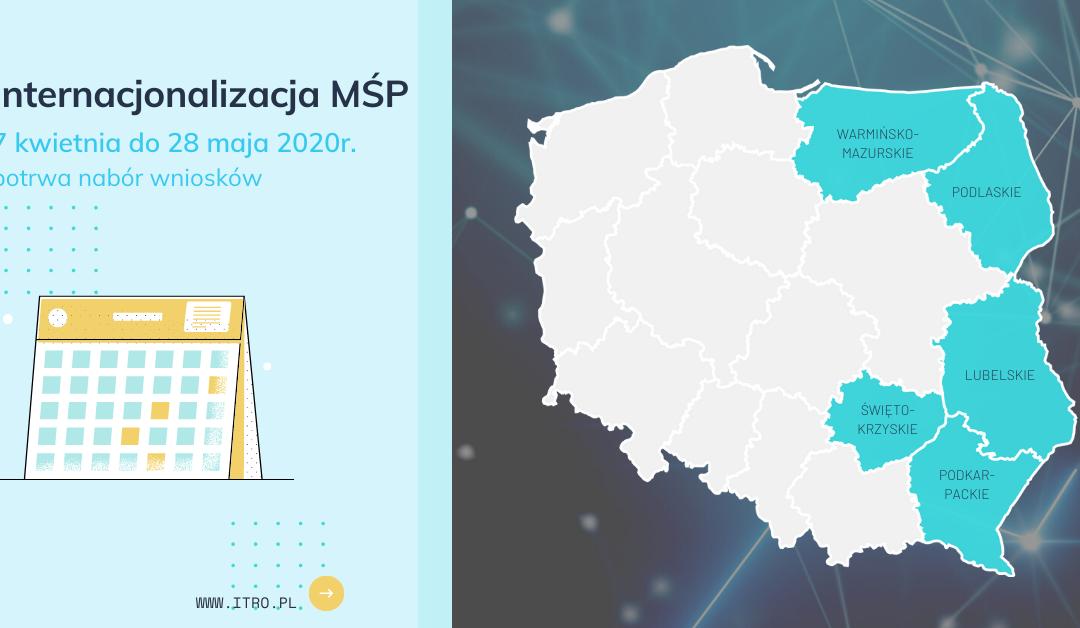 Zmieniona data zakończenia naboru do konkursu POPW 1.2 Internacjonalizacja MŚP